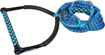JOBE ELITE BLUE HANDLE & V-GRIP WITH 65ft SKI WAKEBOARD KNEEBOARD ROPE