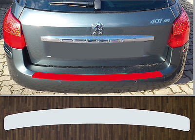 clear protective foil bumper protection transparent Peugeot 407 SW (Year 08-10)