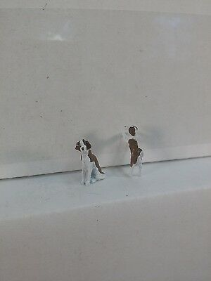 Arttista 2 Dogs as Passengers or ?? #1343- O Scale On30 On3 Figures People New