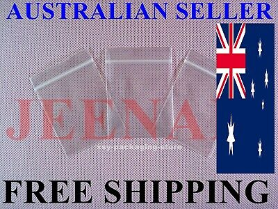 100 Small ZipLock Zip Lock Plastic Resealable Plastic Bag 40MMX50MM + FREE SHIP