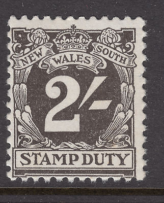 NEW SOUTH WALES 2/- *Stamp Duty NO WMK MINT UNHINGED..