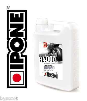 Huile IPONE R4000 RS 10W50 moto 4T scooter semi-synthétique 4L 10 W 50 motor oil
