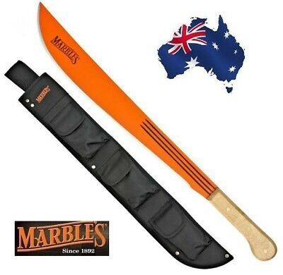 ** Marbles ** Large Machete + Free Sheath! Jungle Camping Hunting Knife Carbon