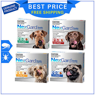 Nexgard Nexguard for Dogs flea and tick treatment 6 Chews all sizes by Merial