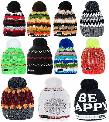 Unisex Knitted Beanie Hat Winter Wool NORDIC Warm Fashion Ski Snowboard Hats LA