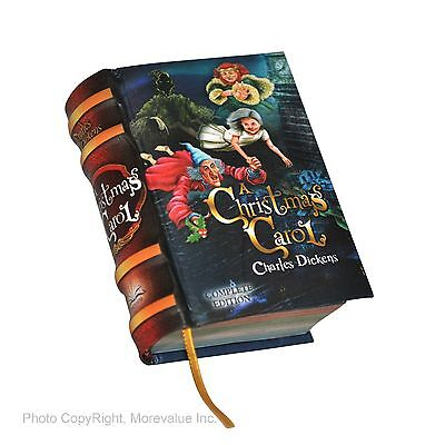 new A Christmas Carol Charles Dickens miniature book hardcover 440 pg easy read