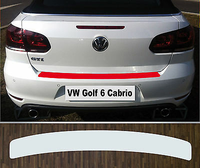 Bumper Protection Paint Foil transparent VW Golf 6 Cabriolet (ab 2011)