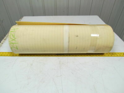 2 Ply Smooth Top Clear/White Urethane Rubber Conveyor Belt 29Ft X 29-1/2""