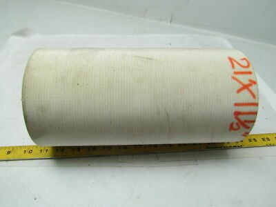2 Ply White Rubber smooth Top Nylon Backed Conveyor Belt 21Ft X 11-1/2""