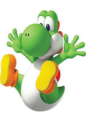 Sticker Autocollant Poster A4 Jeux Video Nintendo Super Mario Bros.yoshi's Dino