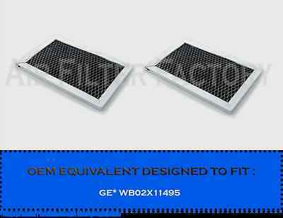 """(2-PK) GE WB02X11495 MICROWAVE CARBON FILTER  4-13/16"""" x 7-5/8"""" x 3/8"""" AFF48-CH"""