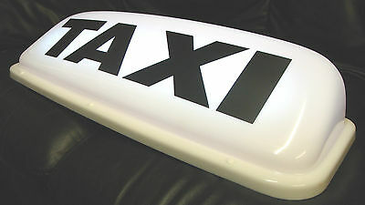 """Taxi Roof Sign White 24"""" Led's Aerodynamic Taxi Meter Topsign Magnetic Cab Light"""
