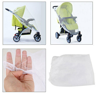 New Pram Stroller Bassinet Insect Bug Netting Net Mosquito Fly Cover Universal