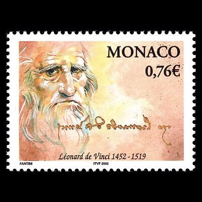 Monaco 2002 - 550th Anniv Birth of Leonardo da Vinci Science - Sc 2247 MNH
