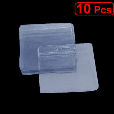Water Resistant Staff Name Badge Horizontal Design Clear Holders 10 Pcs