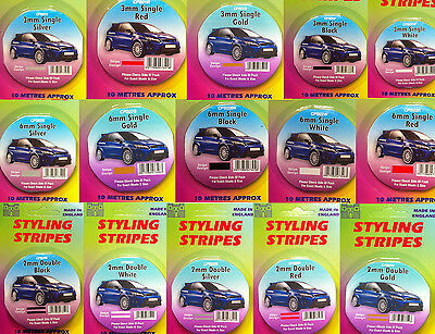 MODEL MAKING - CAR PIN STRIPE COACHLINE TAPE x 10 METRE CHOOSE SIZE - COLOUR