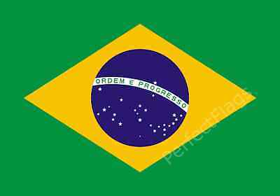 BRAZIL FLAG - BRAZILIAN NATIONAL FLAGS - Hand, 3x2, 5x3, 8x5 Feet