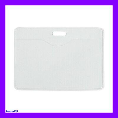 5 PCs Clear Plastic Horizontal Name Tag ID Card Holder ***AUSSIE SELLER***
