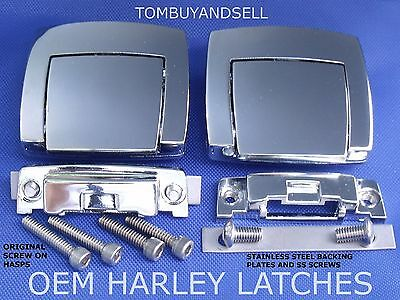 Gloss Chrome Oem For Harley Latch Tour Pack Pak Classic Electra Glide Ultra