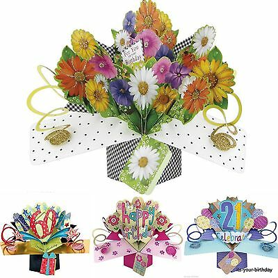 Second Nature Keepsake 3D Pop Up Card Flower For You