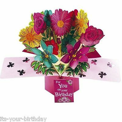 Second Nature Keepsake 3D Pop Up Card Flower Just For You