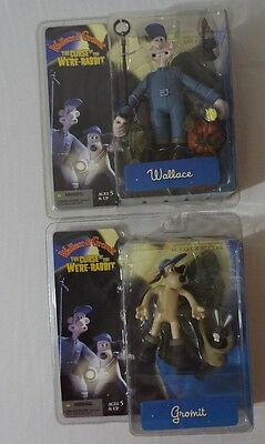 Curse of the Were-Rabbit Wallace & Gromit Figure Lot Movie McFarlane NIP Aardman