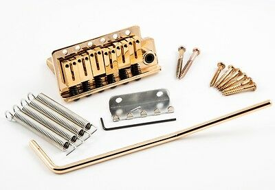 Dragonfire Strat Tremolo Brass Block - Stainless Steel Saddles - FITS MIM! GOLD!