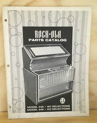 Jukebox Manual - Rock Ola Model 448-449 - Parts Catalog