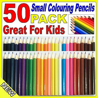 50 Pack Small Coloured Pencils