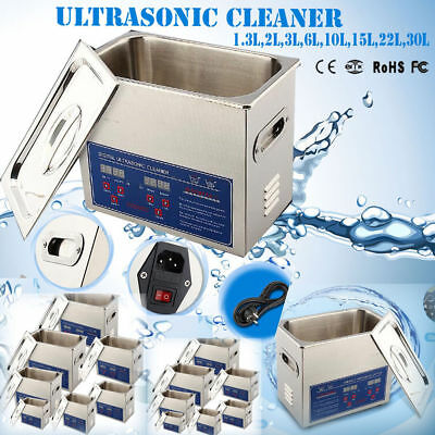 1,3L-30L Digital Ultraschallreiniger Ultrasonic Ultraschallreinigungsgerät NEU~~