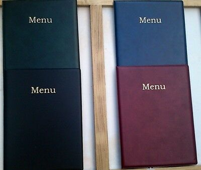 Qty 40 A4 Leather Look Menu Cover  New Product