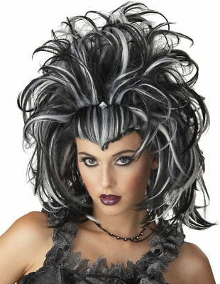 Morris Costume Women's New Gothic Witch Evil Sorceress Black White Wig. MR177153