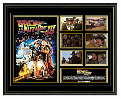 Back To The Future 3 Cast Signed Limited Edition Framed Memorabilia