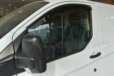 (1.080.49) FORD TRANSIT CUSTOM 2013 on Wind Deflectors Stick-On-Type Dark Smoke