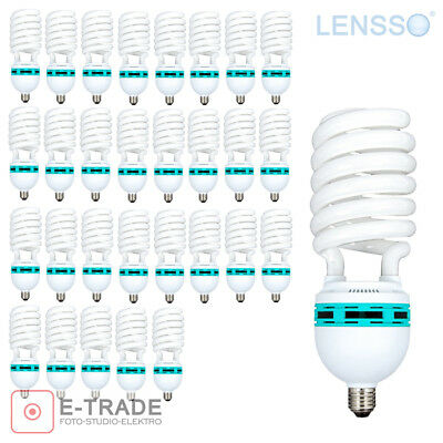 30x Light Bulb 65W = 325W - E27 - 5500K Continuous light - LENSSO