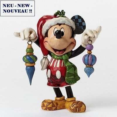 "DISNEY Skulptur ""MICKEY MOUSE - Deck the Halls"" Jim Shore Figur 4046064 NEU !!"