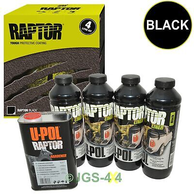 UPOL RAPTOR Ultra Tough Truck Bed Liner Spray On Coating Car Underseal - Black