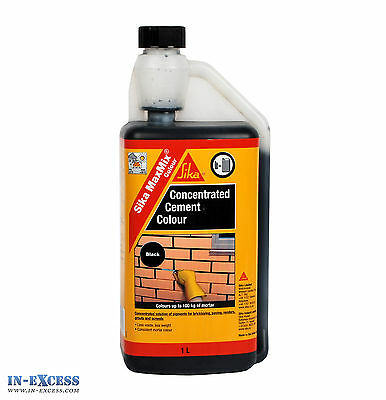 3 Litres Of Sika MaxMix Colour Concentrated Cement Colour Black 3 x 1 Litre