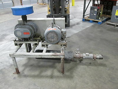 Fuller Company Sutorbilt Positive Displacement Blower w/ Motor 6H-B 15HP Used