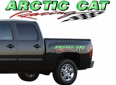 """2 ARCTIC CAT Racing 40"""" Vinyl Decal Graphics for Truck Snowmobile Sled Trailer"""