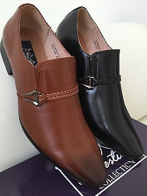 New Mens Dress Shoes Lofer Slip On Majestic Collec Wedding Prom W/leather Lining