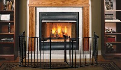 Fireplace Fence Baby Safety Fence Hearth Gate BBQ Pet Dog Cat Metal Fire Gate