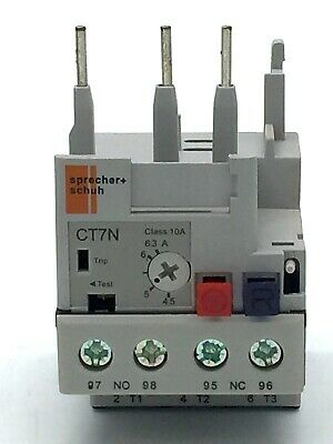 Sprecher + Schuh Thermal Overload Relay CT7N-23-B63 690V50 4.5-6.3 A 3 Pole