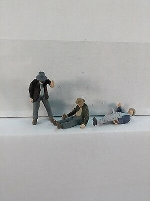 Arttista 3 Drunken Men / Hobo's #1479 - O Scale On30 On3 Figures People New