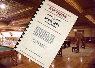 WINCHESTER Model 1892 Lever Action Rifle Owners Instruction Manual