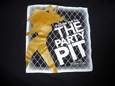 PARTY PIT Las Vegas T Shirt Mandalay Bay Bar Go-Go Black WomensSize- XL