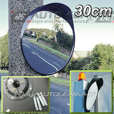 Driveway Garage Outdoor Gate Road Bend Security 30cm Blind Spot Convex Mirror