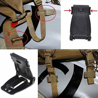 5 Pcs Molle Strap Backpack Bag Webbing Connecting Buckle Clip EDC Outdoor Tools