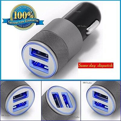 3.1A Double LED USB Car Charger Alloy Universal Fast Charging For Iphone 7,6,5,4