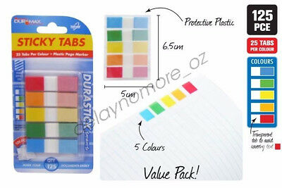 125x Page Marker Post It Note Sticky Tabs Note Memo Index Bookmark Office School